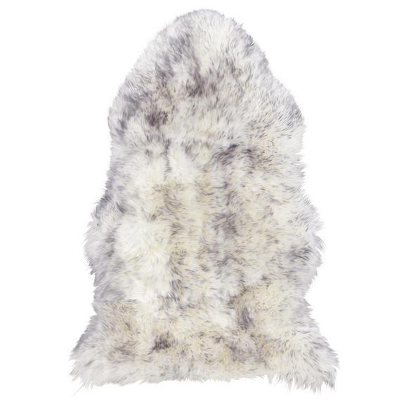 Schaffell Lea in Grau ca.60x90cm - Grau, ROMANTIK / LANDHAUS, Textil (60/90cm) - Mömax modern living