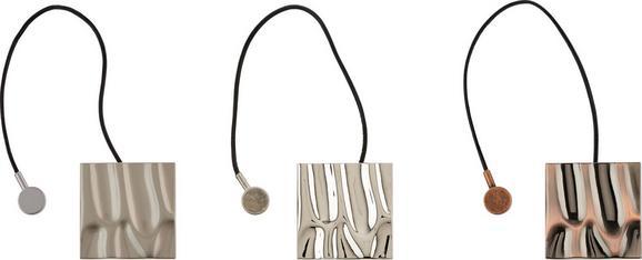 Raffhalter Metal Art mit Magnetverschluss - Silberfarben/Kupferfarben, LIFESTYLE, Metall (5,8cm) - MÖMAX modern living