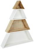 Dekobaum Tree - Braun/Weiß, MODERN, Holzwerkstoff (71/12/86cm)