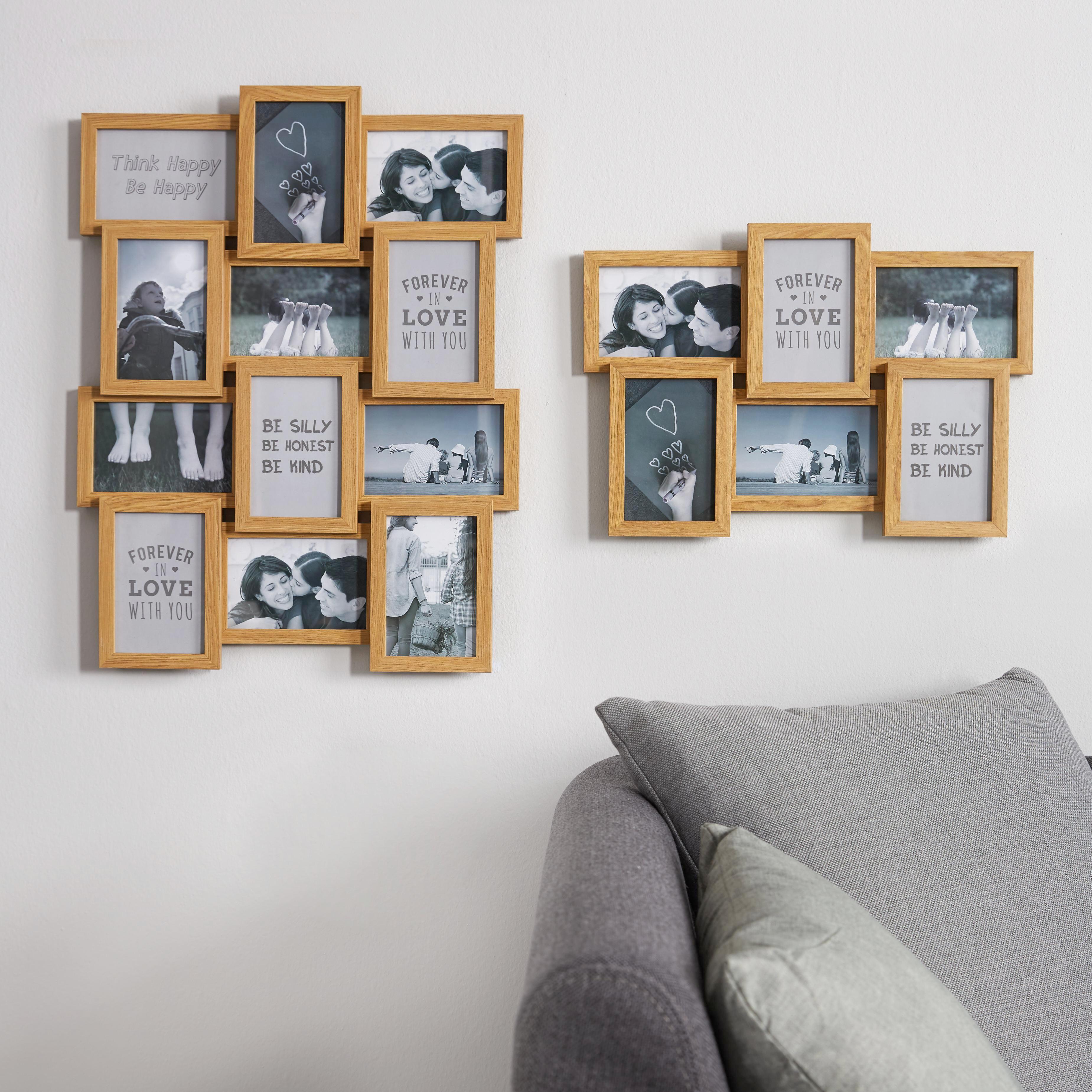 Collagen-Bilderrahmen Stella, ca. 10x15cm - Naturfarben, MODERN, Glas/Holzwerkstoff (44,5/30,7/3cm) - MÖMAX modern living