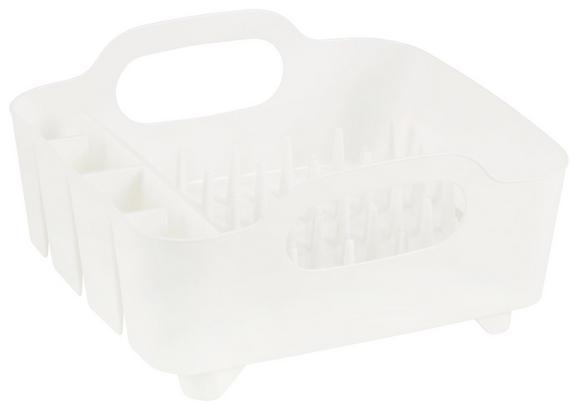 Geschirrabtropfkorb Ute Weiß - Weiß, MODERN, Kunststoff (36,8/33,5/18cm) - PREMIUM LIVING
