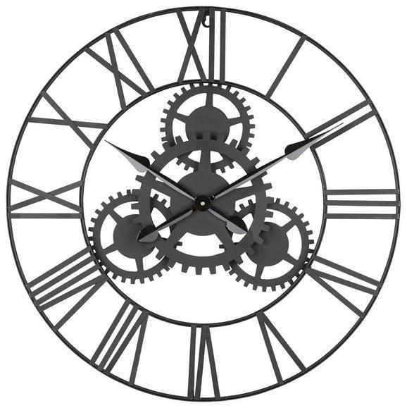 Wanduhr Gears - Schwarz, MODERN, Metall (70cm) - MÖMAX modern living