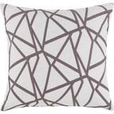 Okrasna Blazina Renata -ext- - siva/bela, Konvencionalno, tekstil (50/50cm) - Premium Living