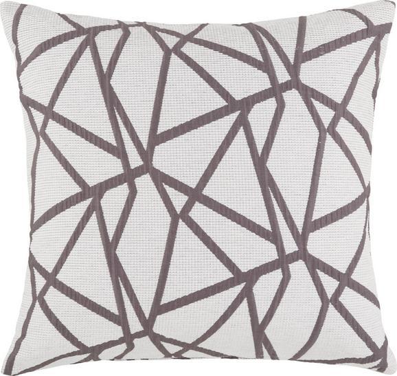 Zierkissen Renata, ca. 50x50cm - Weiß/Grau, KONVENTIONELL, Textil (50/50cm) - Premium Living