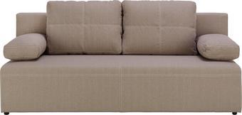 Schlafsofa Beige - Beige/Schwarz, KONVENTIONELL, Kunststoff/Textil (202/88/84cm) - Mömax modern living