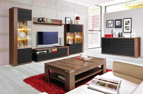 KLUB STOLIĆ LACJUM - boje hrasta/svijetlo smeđa, Konventionell, drvni materijal/metal (120/43/75cm)