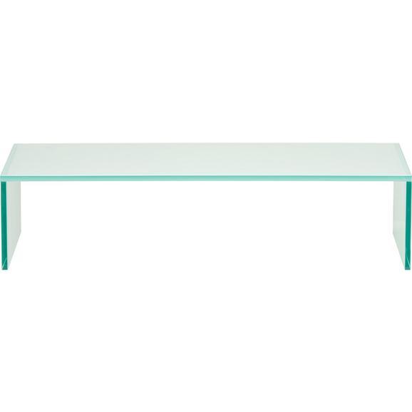 tv aufsatz glas wei online kaufen m max. Black Bedroom Furniture Sets. Home Design Ideas