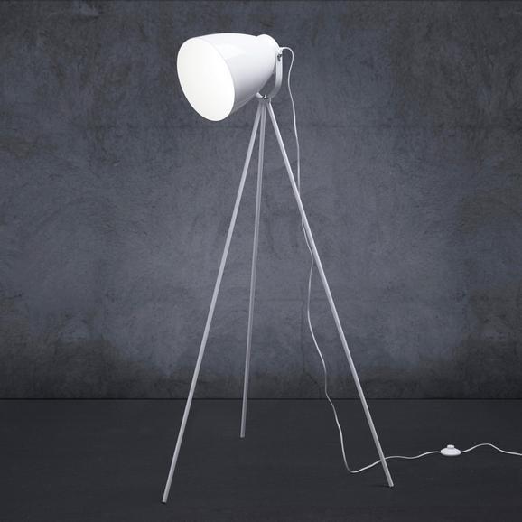 Stehleuchte Tomasso - Weiß, MODERN, Metall (63/63/150cm) - Modern Living