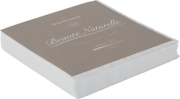 Serviette Naturelle aus Papier in Braun - Braun, ROMANTIK / LANDHAUS, Papier (16,5/16,5/2,5cm) - Mömax modern living
