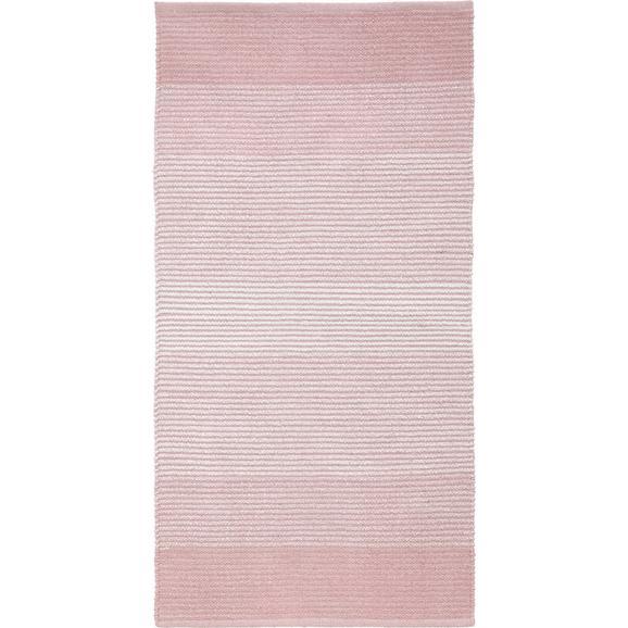 Fleckerlteppich MALTO - Rosa, MODERN, Textil (100/150cm) - Mömax modern living