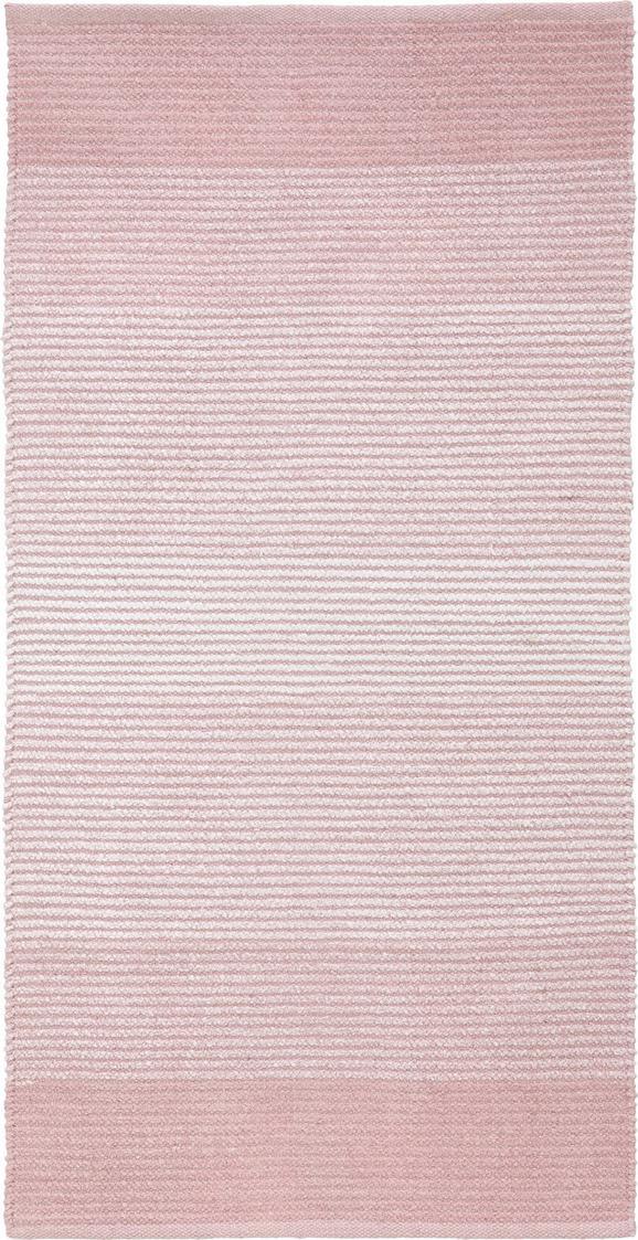 Rongyszőnyeg Malto - Rózsaszín, modern, Textil (70/140cm) - Mömax modern living