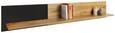 Wandboard Eichefarben/Schwarz - Eichefarben/Schwarz, MODERN, Holzwerkstoff (180/30/22cm) - Modern Living