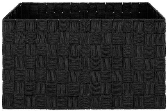 Košara Charlotte - črna, kovina/umetna masa (37,5/27,5/20,5cm) - Mömax modern living