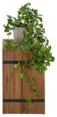 Blumensäule Rustic aus Teakholz - Teakfarben, LIFESTYLE, Holz (30/45/30cm) - PREMIUM LIVING