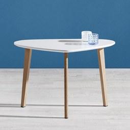 Couchtisch Kimi 70x40cm - Naturfarben/Weiß, MODERN, Holz/Metall (40/70/46,5cm) - Mömax modern living