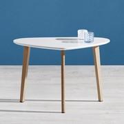 Couchtisch Kimi ca.70x40cm - Buchefarben/Weiß, MODERN, Holz/Metall (40/70/46,5cm) - Mömax modern living