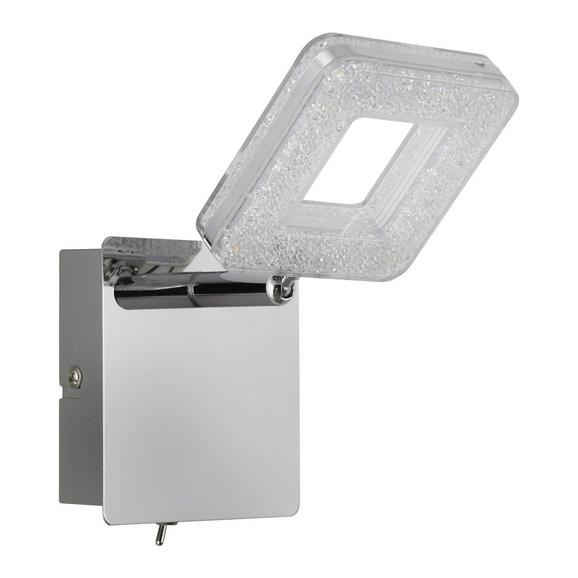 LED-Strahler Nanni, max. 4 Watt - Chromfarben, ROMANTIK / LANDHAUS, Kunststoff/Metall (10,5/17cm) - Premium Living