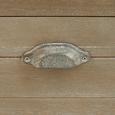 Bank Savannah Antik - Kieferfarben, Holz/Metall (111/91/50cm) - Bessagi Home