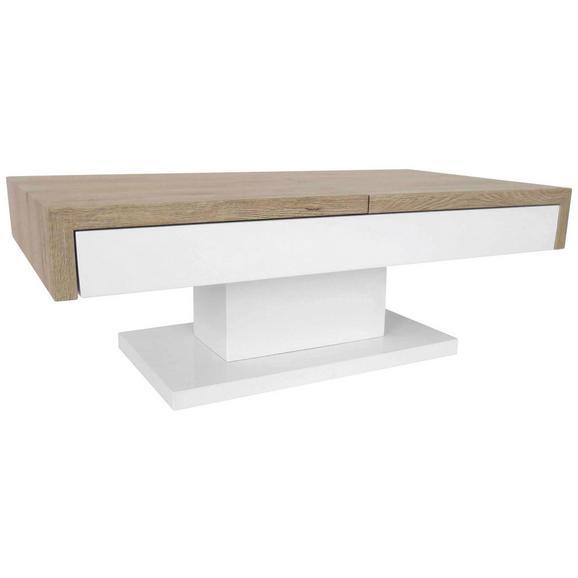 couchtisch wei hochglanz eichefarben online kaufen m max. Black Bedroom Furniture Sets. Home Design Ideas