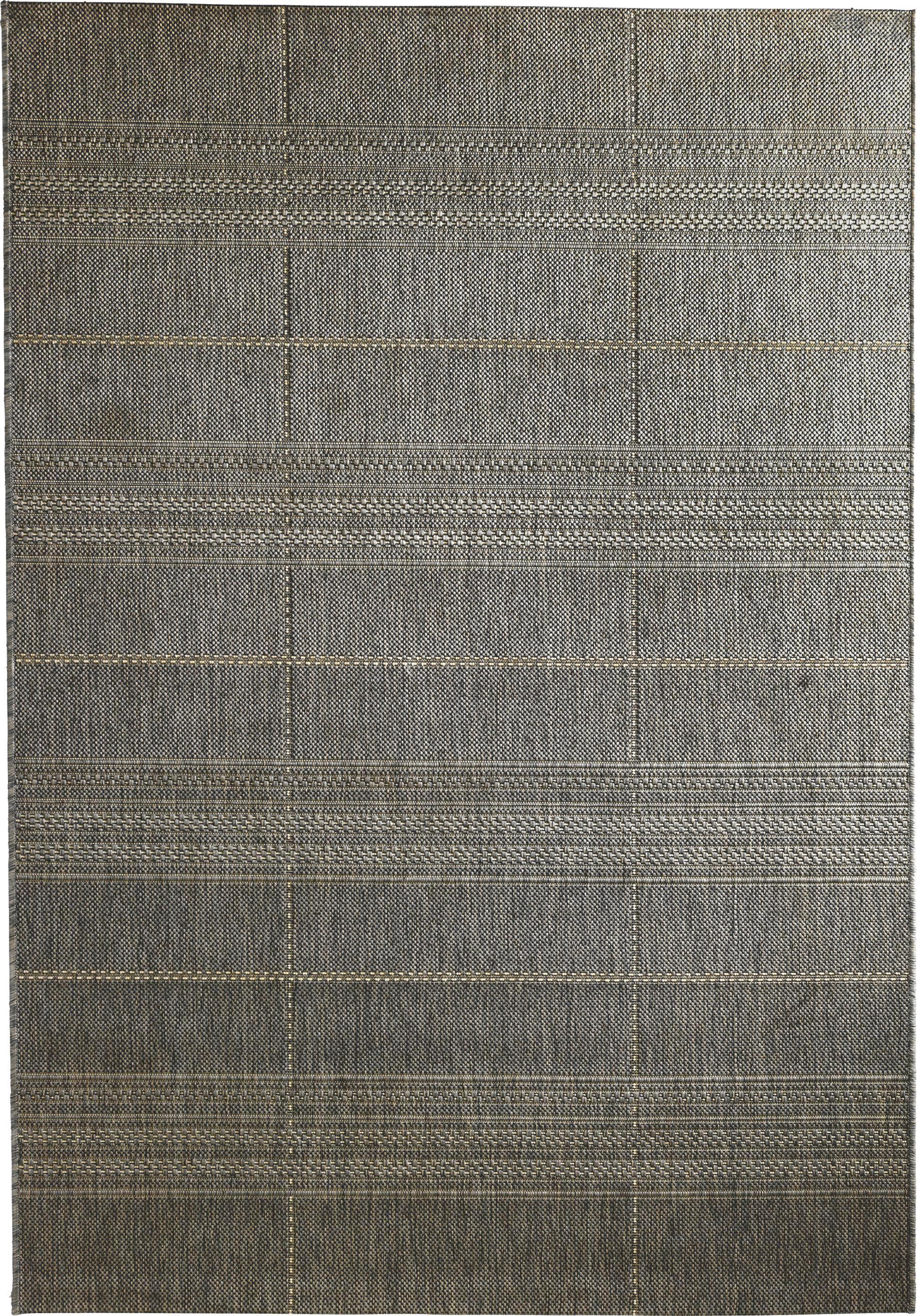 Flachwebeteppich Essenza in Grau, ca. 200x250cm - Grau, MODERN, Textil (200/250cm) - MÖMAX modern living