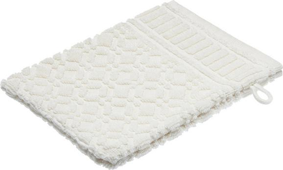 Waschhandschuh Carina Weiß - Weiß, ROMANTIK / LANDHAUS, Textil (16/21cm) - Mömax modern living