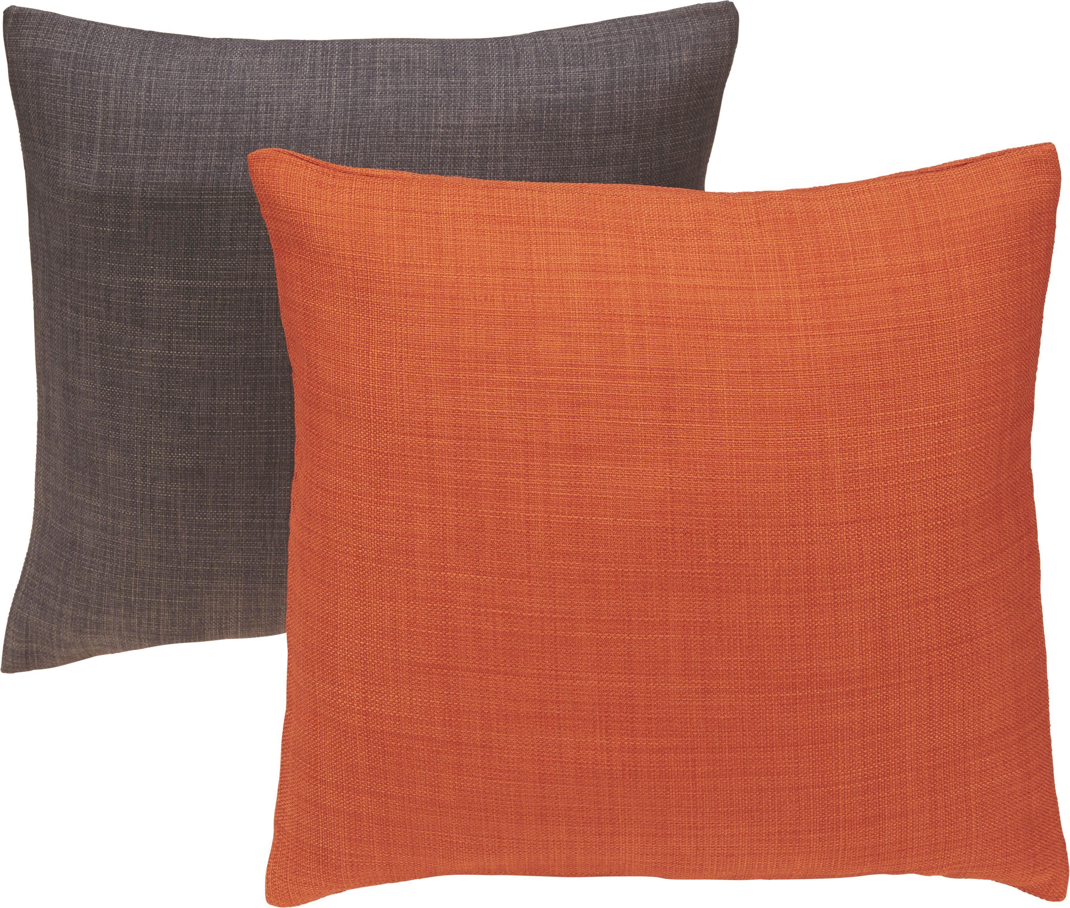 Kissenhülle Leinenoptik, ca. 40x40cm - Dunkelbraun, KONVENTIONELL, Textil (40/40cm) - MÖMAX modern living