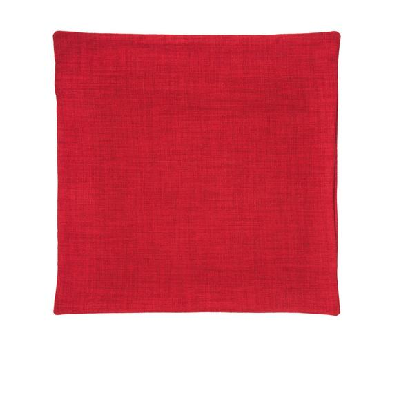 Kissenhülle Leinenoptik, ca. 50x50cm - Rot, Textil (50/50cm) - Premium Living
