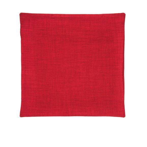Párnahuzat Leinenoptik 50/50 - Piros, Textil (50/50cm) - Premium Living