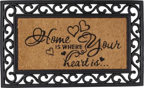 Fußmatte Hearts in Braun, ca. 40x60cm - Braun, ROMANTIK / LANDHAUS, Kunststoff/Textil (40/60cm) - MÖMAX modern living