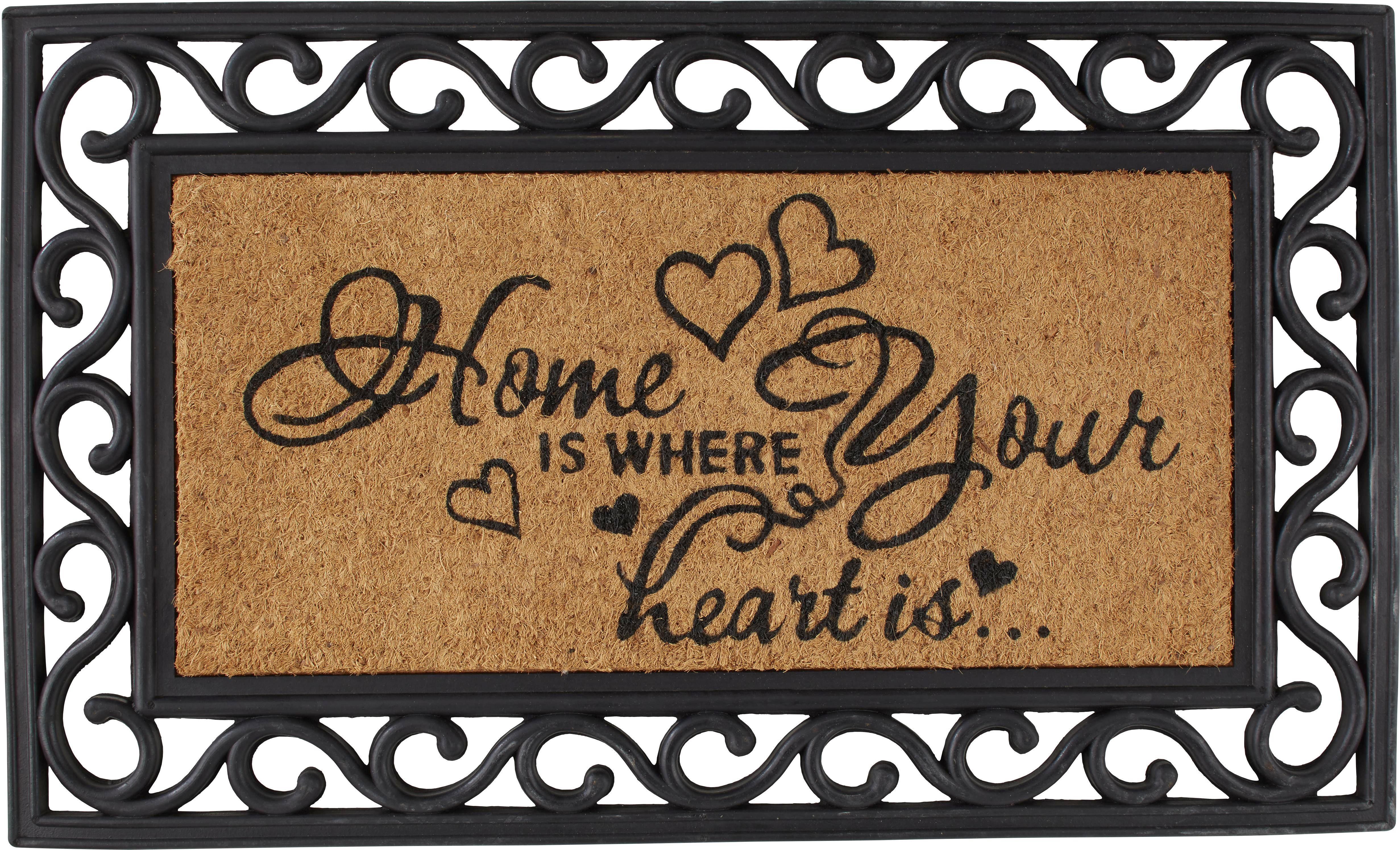 Lábtörlő Hearts - barna, romantikus/Landhaus, műanyag/textil (40/60cm) - MÖMAX modern living