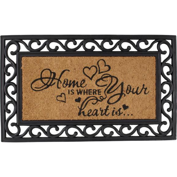 Predpražnik Hearts - rjava, Romantika, umetna masa/tekstil (40/60cm) - Mömax modern living
