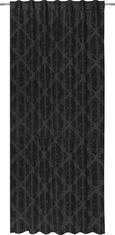Verdunkelungsvorhang Charles, ca. 140x245cm - Schwarz, LIFESTYLE, Textil (140/245cm) - Mömax modern living