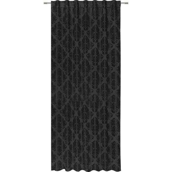 Zavesa Z Zankami Charles - črna, Trendi, tekstil (140/245cm) - Mömax modern living