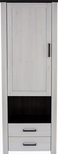 Ormar Provence - bijela/brončana, ROMANTIK / LANDHAUS, drvni materijal/metal (71,2/200/42cm) - Modern Living