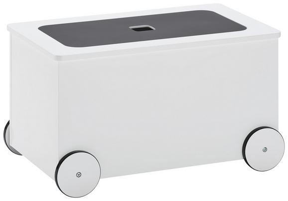 Aufbewahrungsbox in Weiß - Weiß, Holzwerkstoff (53,4/31/33cm) - MÖMAX modern living