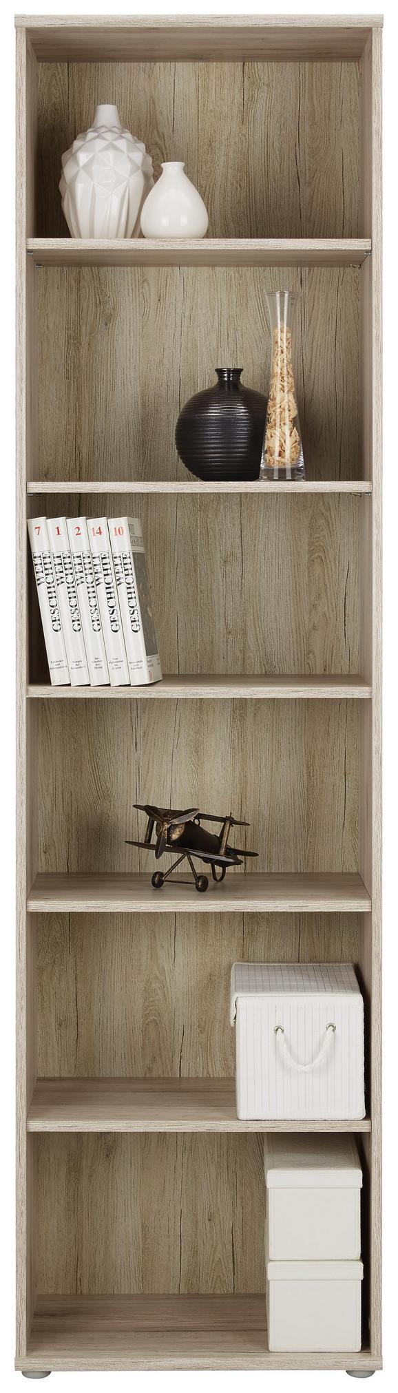 Regal Eiche/sandfarben - Sandfarben/Eichefarben, MODERN, Holzwerkstoff/Kunststoff (54/198/34cm)