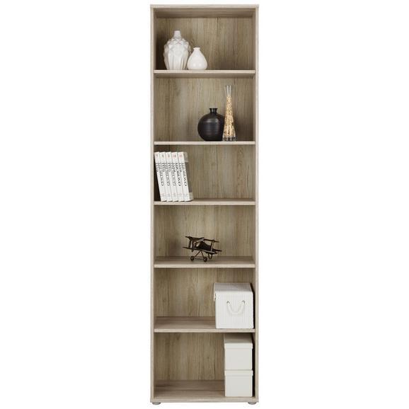 Regal Tempra - hrast/peščena, Moderno, kovina/umetna masa (54/198/34cm) - Mömax modern living