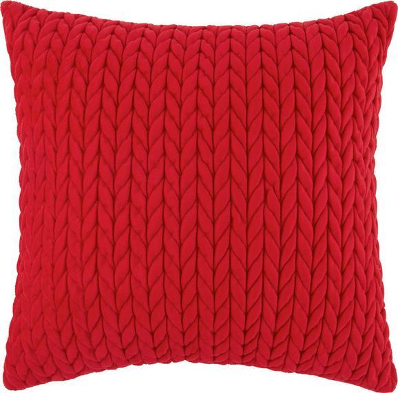 Zierkissen Heidi in Rot, ca. 45x45cm - Rot, ROMANTIK / LANDHAUS, Textil (45/45cm) - Mömax modern living