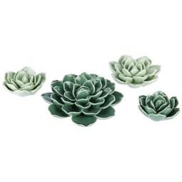 Dekoblume Lea aus Keramik - Grün, Keramik (4,5/4,5/2cm) - Mömax modern living