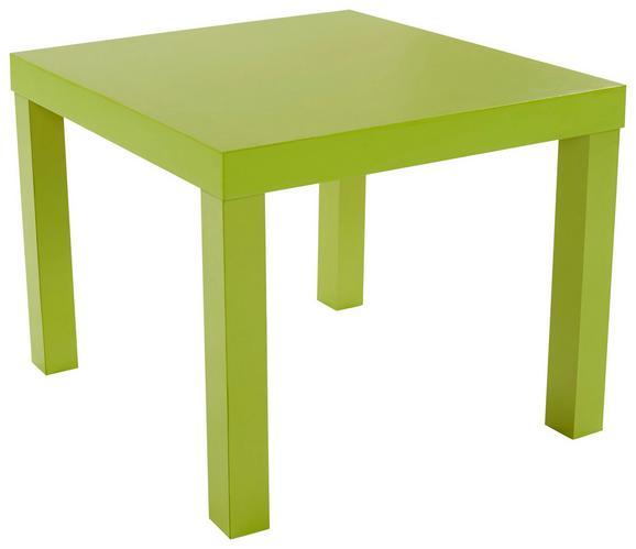 Dohányzóasztal Nora - Zöld, modern, Faalapú anyag (55/42/55cm)