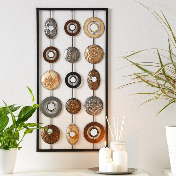 Wanddeko Elliot - Multicolor, KONVENTIONELL, Metall (31/61/1,5cm) - Mömax modern living