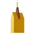 Hängeleuchte Reader max. 40 Watt - Gelb, LIFESTYLE, Metall (18/18/58cm) - Modern Living