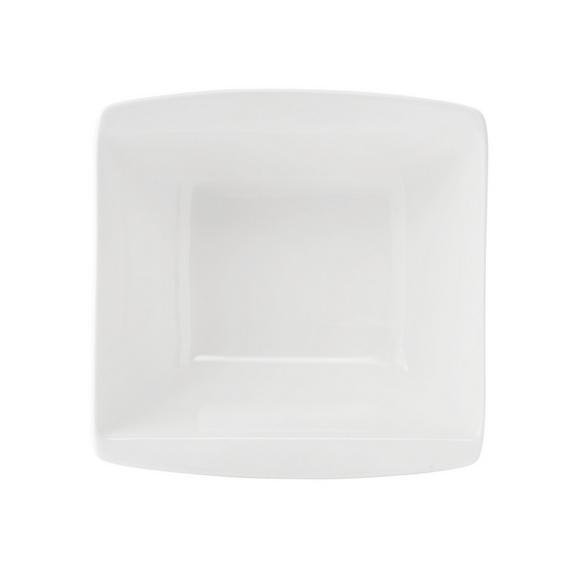 Schüssel Pura in Weiß - Weiß, LIFESTYLE, Keramik (14/14cm) - Premium Living