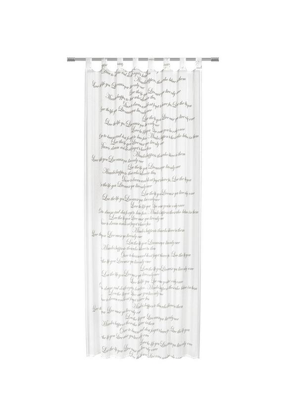 Schlaufenvorhang Diana, ca. 140x245cm - Weiß, ROMANTIK / LANDHAUS, Textil (140/245cm) - Mömax modern living
