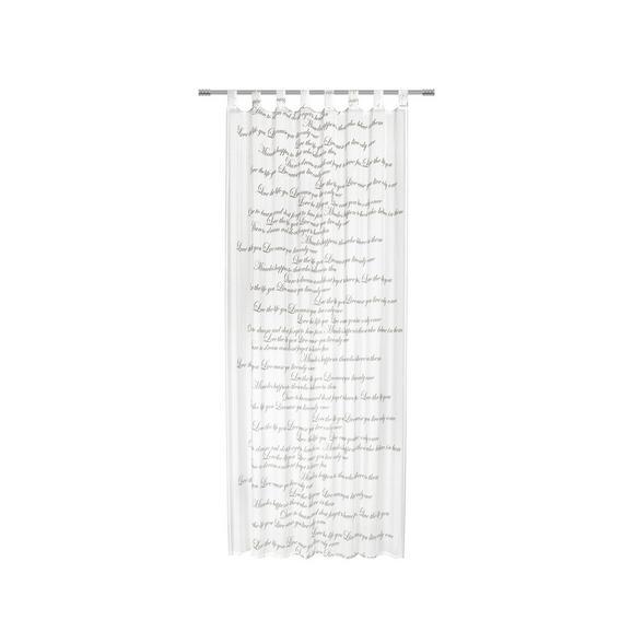 Zavesa Z Zankami Diana - bela, Romantika, tekstil (140/245cm) - Mömax modern living