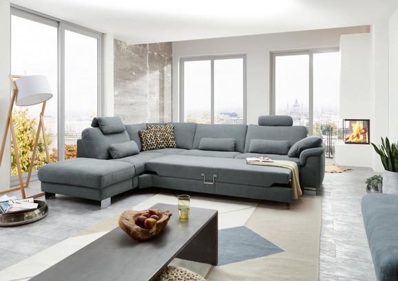Sjedeća Garnitura Sjedeća Garnitura Bobby Mini - siva, Lifestyle, tekstil/metal (238/306cm) - Premium Living