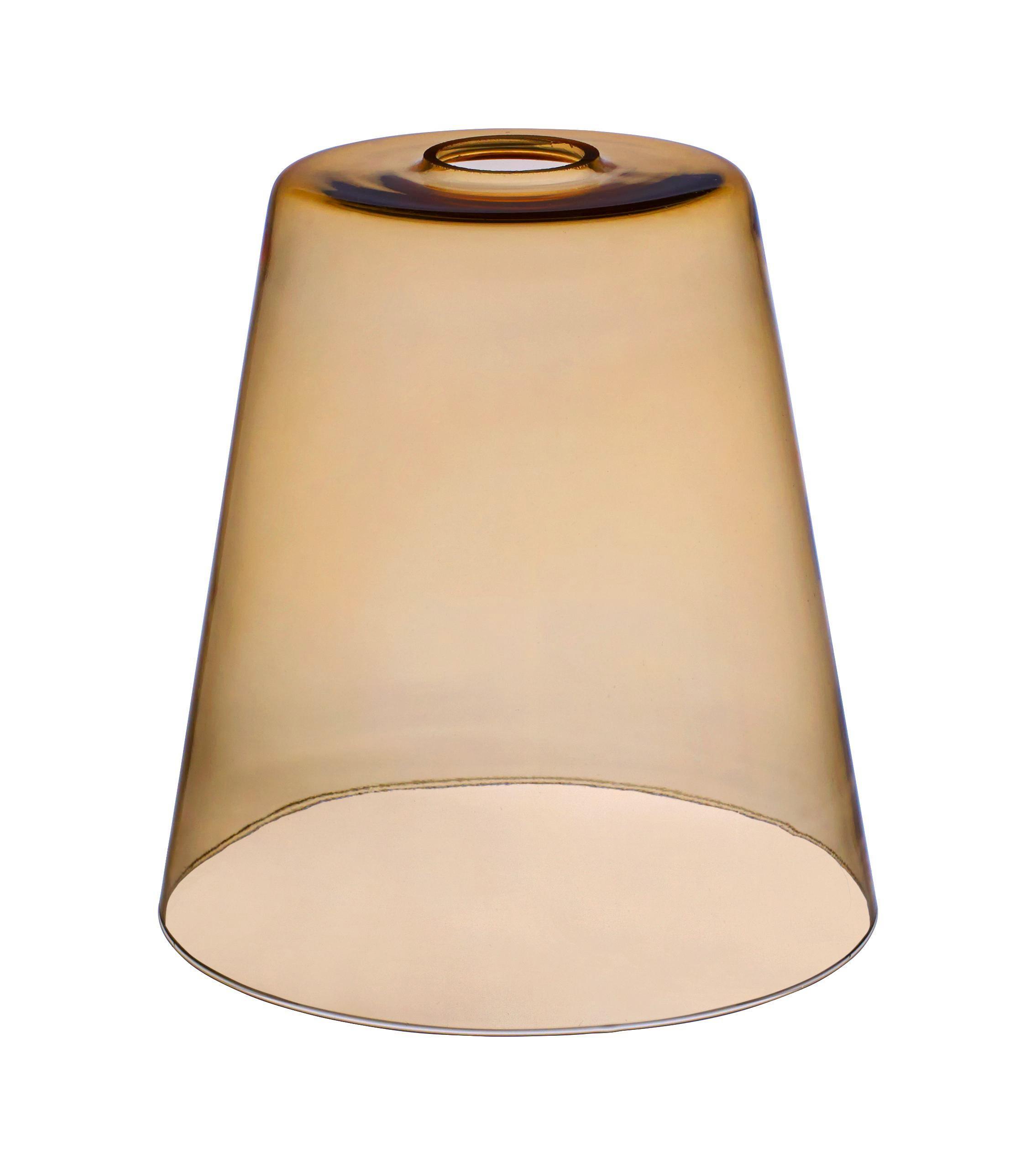 Leuchtenschirm Cora aus Glas in Beige - Bernsteinfarben, Glas (22/24cm) - MÖMAX modern living