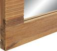 Spiegel ca. 130x70x3cm - Akaziefarben, KONVENTIONELL, Glas/Holz (130/70/3cm) - Zandiara