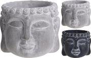 Kaspó Buddha Minta - Szürke/Sötétszürke, Természetes anyagok (35/34/31cm)