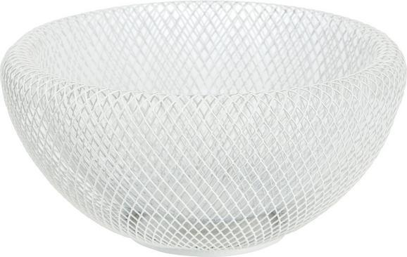 Dekoschale Seoul in Weiß aus Metall - Weiß, MODERN, Metall (19,5/10cm) - MÖMAX modern living